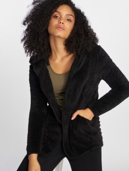 Only Strickjacke onlNew Contact Sherpa schwarz