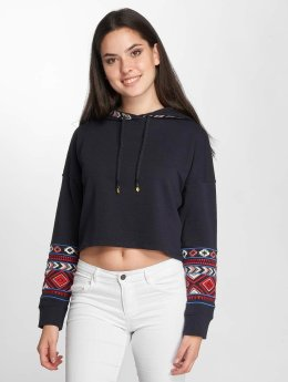 Only Sweat capuche onlAmber Cropped bleu