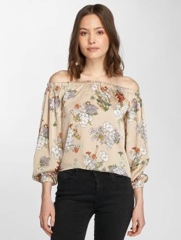 Only T-Shirt manches longues onlEva Cold Shoulder beige