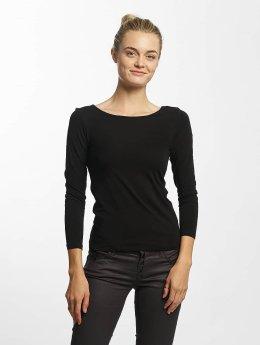 Only T-Shirt manches longues onlLive Love 7/8 Lace Up noir