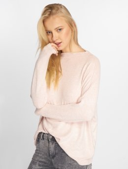 Only T-Shirt manches longues onlKleo Plain Knit rose