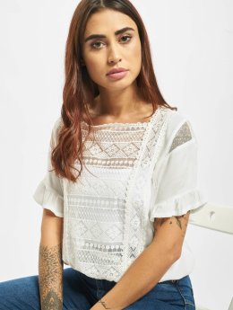 Only Top onlAnnie Lace Blocking  hvid
