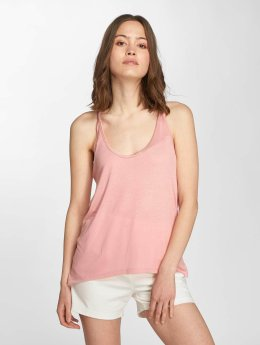 Only Topssans manche onlCarrie Singlet Macrame rose
