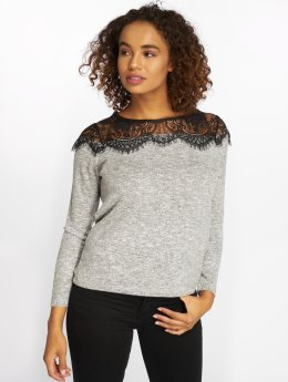 Only trui onlIdaho Lace Knit grijs