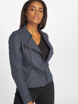 Only Veste & Blouson en cuir onlAva Faux Leather bleu
