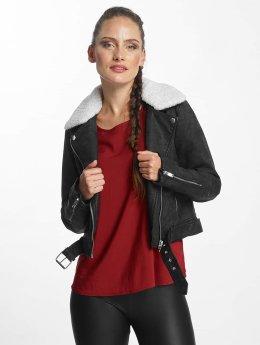 Only Veste & Blouson en cuir onlDanielle Faux Leather Biker noir