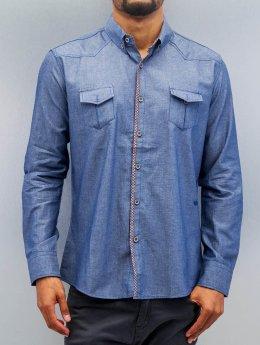 Open Camisa Breast Pocket azul