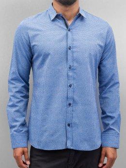 Open Skjorte Dots  blå