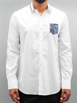 Open Skjorte Flower  hvid