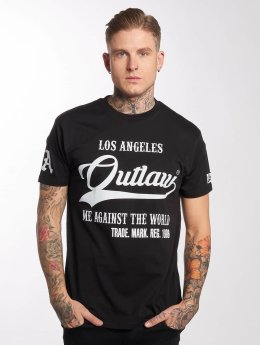 Outlaw T-Shirt Me against the world noir