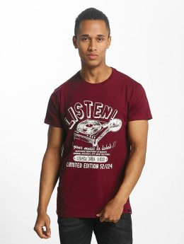 Paris Premium Listen! T-Shirt Bordeaux