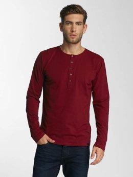 Paris Premium Maglietta a manica lunga Basic rosso