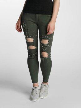 Paris Premium Skinny jeans Denim olijfgroen