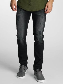 Paris Premium Straight fit jeans Used zwart