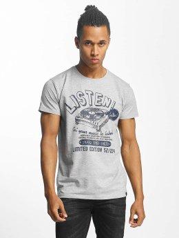 Paris Premium Listen! T-Shirt Grey Melange