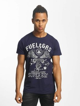 Paris Premium T-shirts Fuel & Gas blå