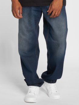 Pelle Pelle Jean coupe droite Double bleu