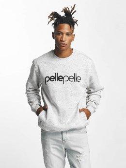 Pelle Pelle Pullover Back 2 Basics Crew Neck grau