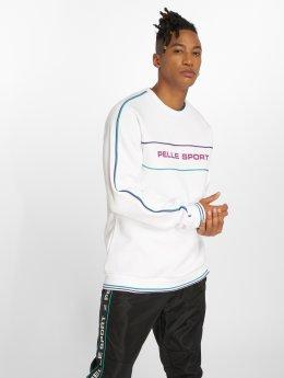 Pelle Pelle Pullover Linear weiß