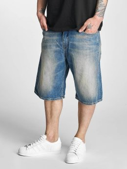 Pelle Pelle Short Buster Baggy Denim bleu