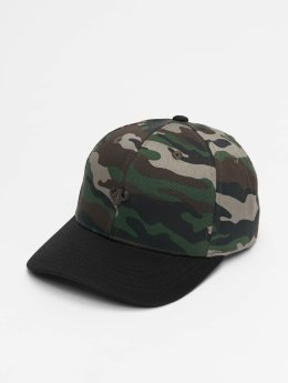 Pelle Pelle Snapback Cap Icon Plate Curved mimetico