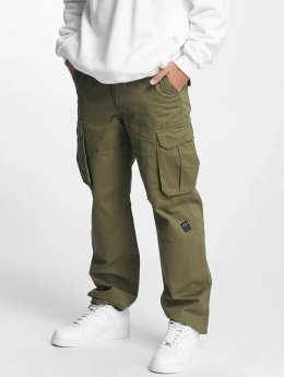 Pelle Pelle Spodnie Chino/Cargo Basic Re Up Twill oliwkowy
