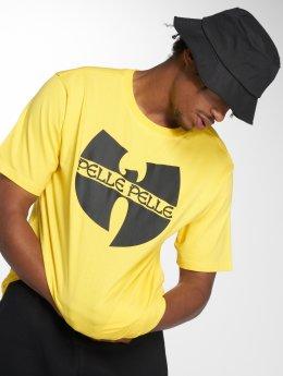 Pelle Pelle t-shirt x Wu-Tang Batlogo Mix geel