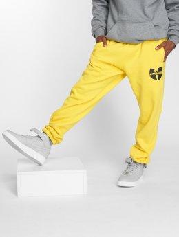 Pelle Pelle Verryttelyhousut x Wu-Tang Batlogo Mix keltainen