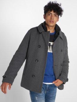 Petrol Industries Mantel Wool grau
