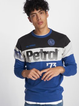 Petrol Industries Pullover Block blau