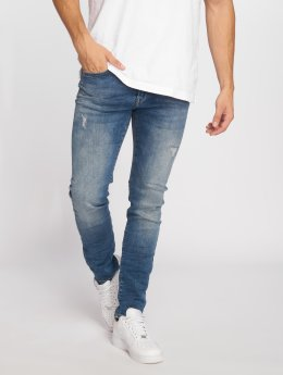 Petrol Industries Straight fit jeans Seaham Repaired blauw