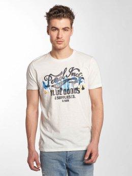 Petrol Industries T-paidat Blue Goods valkoinen