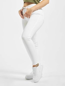 Pieces Jean skinny PCFive Delly blanc