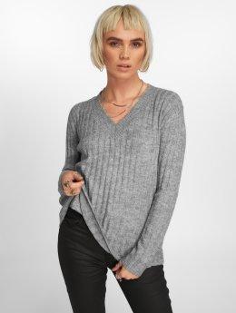 Pieces Jersey pcSanni Wool gris