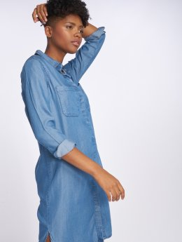 Pieces jurk pcWhy Denim blauw