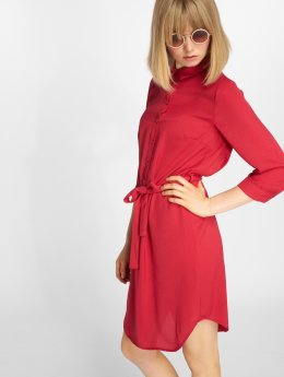 Pieces / jurk pcFleure 3/4 in rood