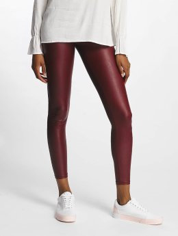 Pieces Legging pcPetra Shiny rood