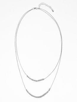 Pieces Necklace pcTatum  silver colored