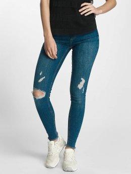 Pieces Frauen Skinny Jeans pcFive Delly in blau