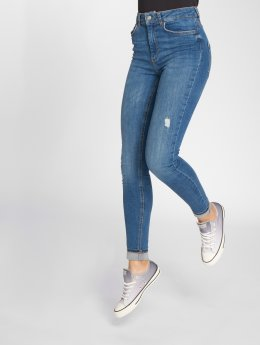 Pieces Skinny jeans PcHighfive Delly B184 blauw