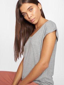 Pieces T-Shirt pcBillo Lurex Stripes grau