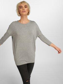 Pieces T-Shirt manches longues pcMinna 3/4 Lurex gris