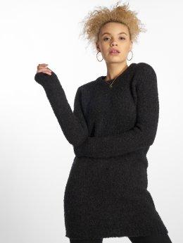 Pieces trui Pcfortuna Ls Wool Long Knit zwart