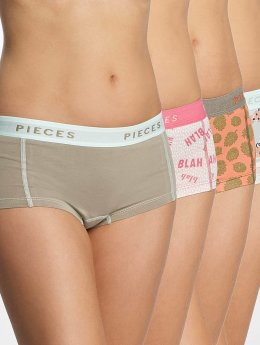 Pieces Underwear pcLogo 4-Pack white
