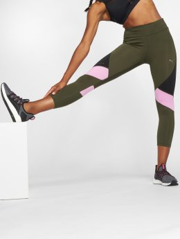 Puma Performance Leggings/Treggings Ignite 3/4 zielony