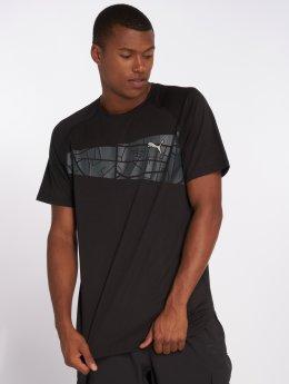 Puma Performance Sportshirts Graphic Triblend czarny