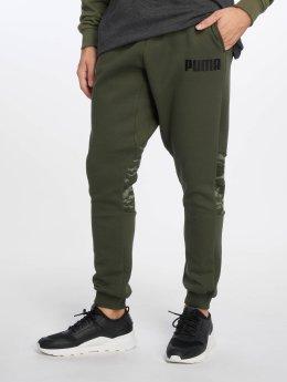 Puma Spodnie do joggingu Camo oliwkowy
