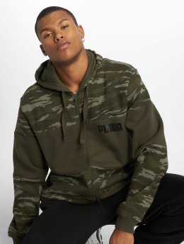 Puma Sweatvest Camo Fleece Full Zip Hoody olijfgroen