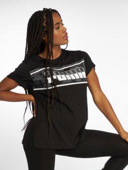 Puma T-Shirt Rebel Boyfriend Logo schwarz