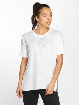 Puma t-shirt En Point wit